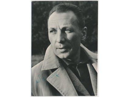 Chudík Ladislav (1924-2015), herec, pohlednice s věnováním a podpisem
