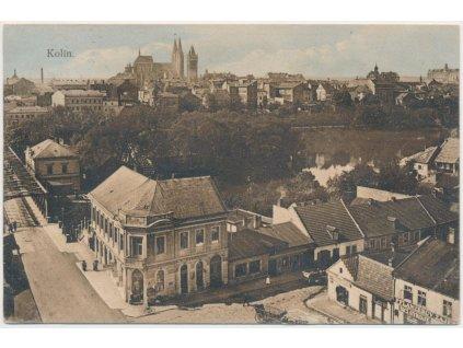 29 - Kolín, pohled na střed města, cca 1911