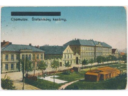 09 - Chomutov, pohled na Štefánikovy kasárny, cca 1931