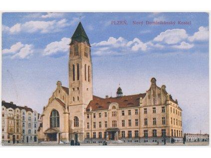 47 - Plzeň, Nový Dominikánský kostel, cca 1917
