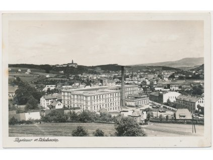 38 - Náchod, celkový pohled na město, cca 1941