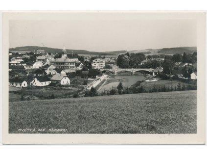17 - Havlíčkobrodsko, Světlá nad Sázavou, celkový pohled, cca 1938
