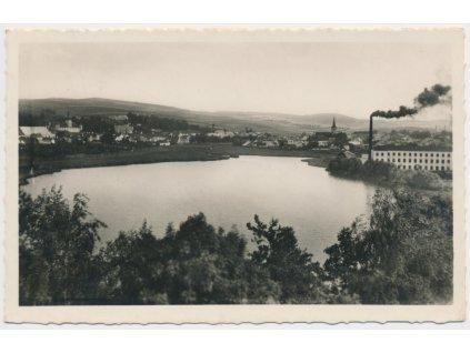 23 - Jihlavsko, Třešť, celkový pohled na město, cca 1939