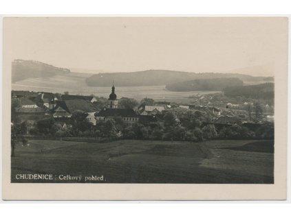 28 - Klatovsko, Chudenice, celkový pohled, cca 1933