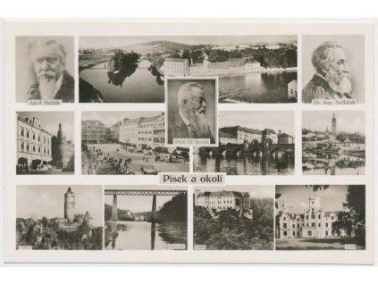 46 - Písek, 12 - ti záběr dominant města, cca 1949