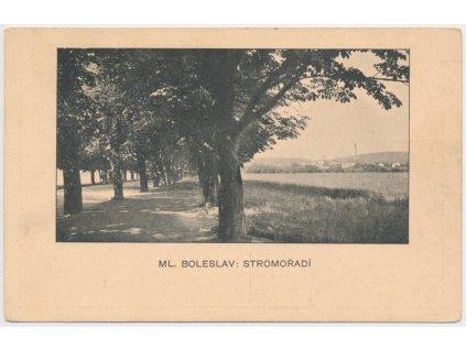 36 - Mladá Boleslav, Stromořadí, cca 1912