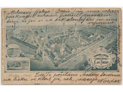 """47 - Plzeň, Škodovy závody, továrna na stroje """" Zbrojovka"""", cca 1900"""