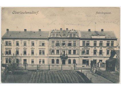 37 - Mostecko, Horní Litvínov, Oberleutensdorf, Fabriksgasse, cca 1906