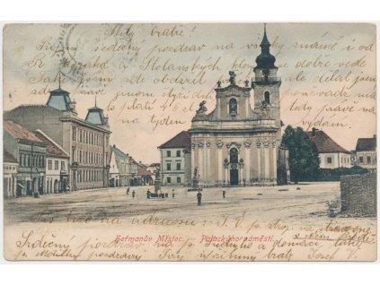 10 - Chrudimsko, Heřmanův Městec, Palackého náměstí, cca 1905