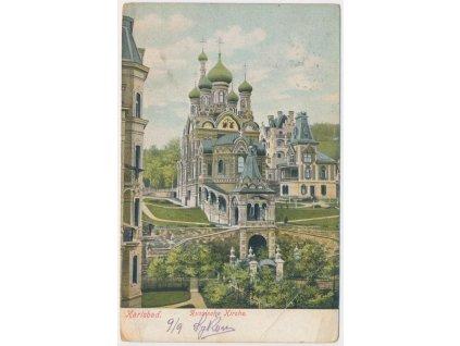25 - Karlovy Vary, Pravoslavný kostel sv. Petra a Pavla, cca 1905