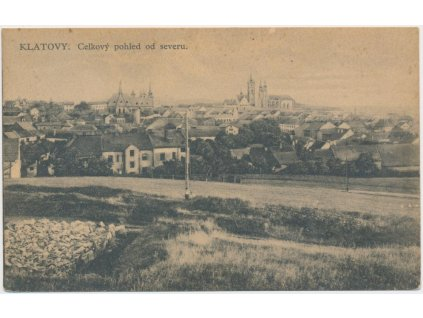 28 - Klatovy, celkový pohled na město od severu, nákl. Chmelíček, 1925