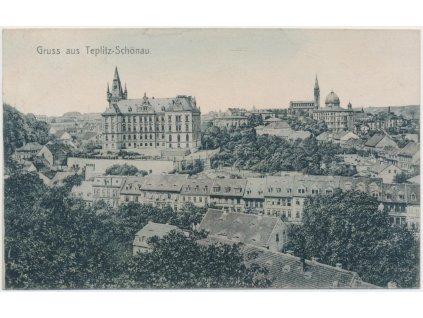 65 - Teplice, celkový pohled na město, cca 1910