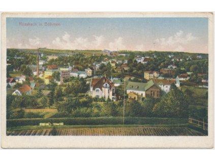 08 - Chebsko, Hranice u Aše, celkový pohled na město, cca 1925