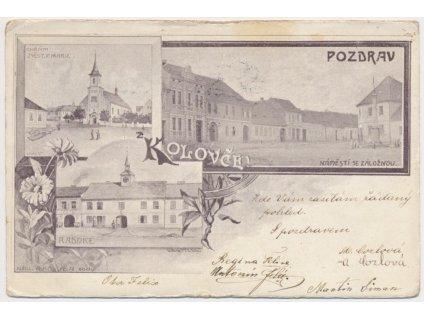 15 - Domažlicko, Koloveč, 3 - záběrová koláž dominant, cca 1902