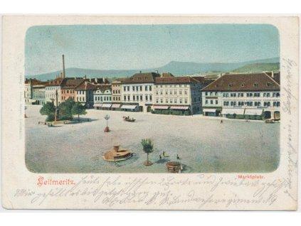 33 - Litoměřice, pohled na náměstí, Nakl. H. Mayer, cca 1900