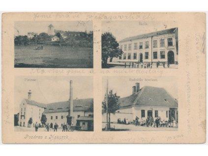 10 - Chrudimsko, Nasavrky, 4 - záběr, Pivovar, hostinec, škola...,1903