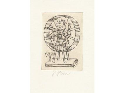 Slíva Jiří (1947), West , litografie, signováno, TOP stav