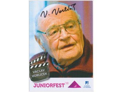 Vorlíček Václav (1930-2019), režisér, propagační karta s vl. podpisem