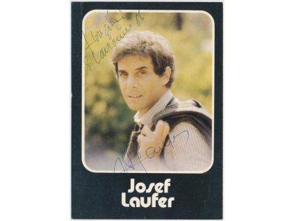 Laufer Josef (1939), herec a zpěvák, sběrat. karta s vlastn. podpisem