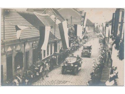 72 - Vyškovsko, Slavkov, Návštěva T. G. Masaryka, foto J. Kocian, 1931