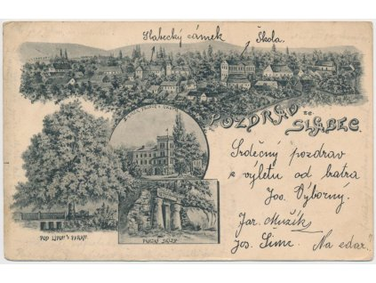 55 - Rakovnicko, Slabce, 4 - záběrová koláž dominant, cca 1904