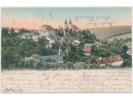 05 - Brno - venkov, Vranov (Moravské Švýcarsko), celkový pohled, 1901