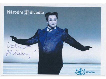 Postránecký Václav(1943 - 2019), herec, propagační karta s podpisem