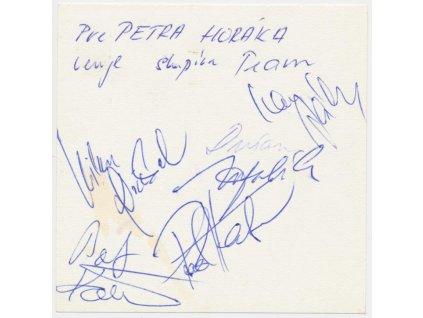 Habera Pavol (1962) a skupina Team, vlastnoruční podpisy