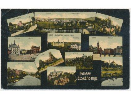 58 - Semilsko, Český Ráj, 11 - ti záběr dominant, Turnov, Trosky..1910
