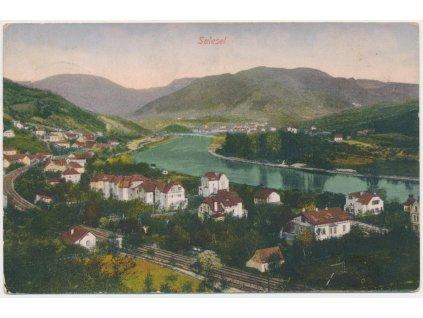 69 - Ústecko, Dolní Zálezly, Salesel, celkový pohled, cca 1916