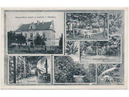 10 - Chrudimsko, Hlinsko, 5 - ti záběrová koláž, Hromádkův hotel....