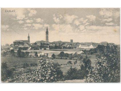 31 - Kutnohorsko, Čáslav, celkový pohled na město, cca 1926