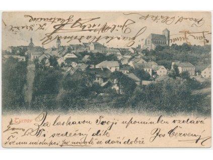 58 - Semilsko, Turnov, pohled na město, cca 1905