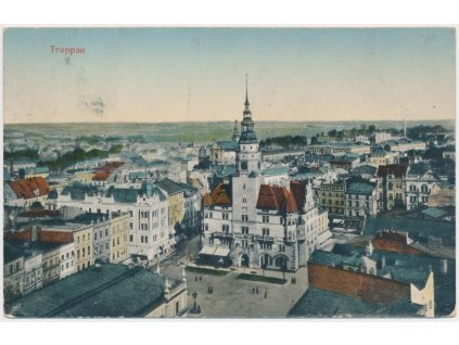 42 - Opava, Troppau, pohled na město, cca 1916