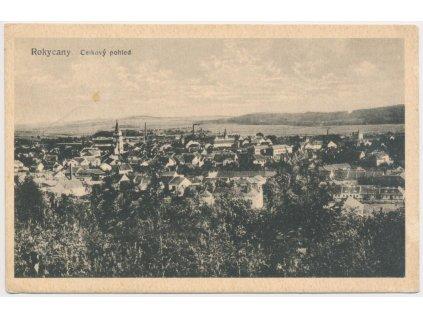56 - Rokycany, celkový pohled na město, cca 1922