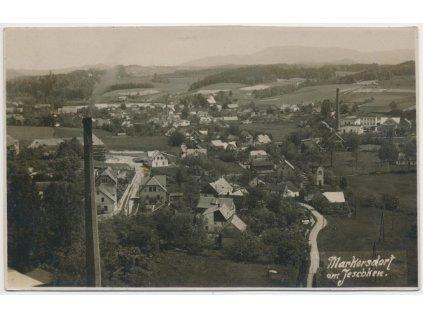 32 - Liberecko, Markvartice pod Ještědem, celkový pohled, cca 1932