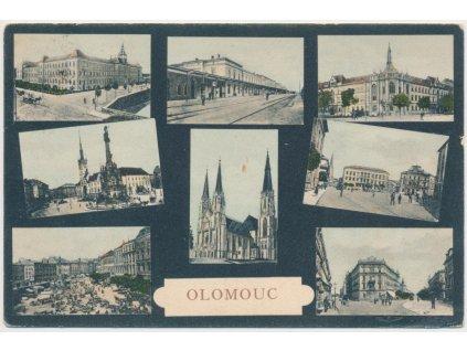 41 - Olomouc, 8 - mi záběr dominant města, cca 1918
