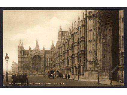 England, London, Parlament, Königl. Eingang, cca 1915