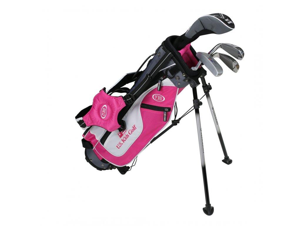 17561 UL45 WT 25 4Club Stand Bag Set pink