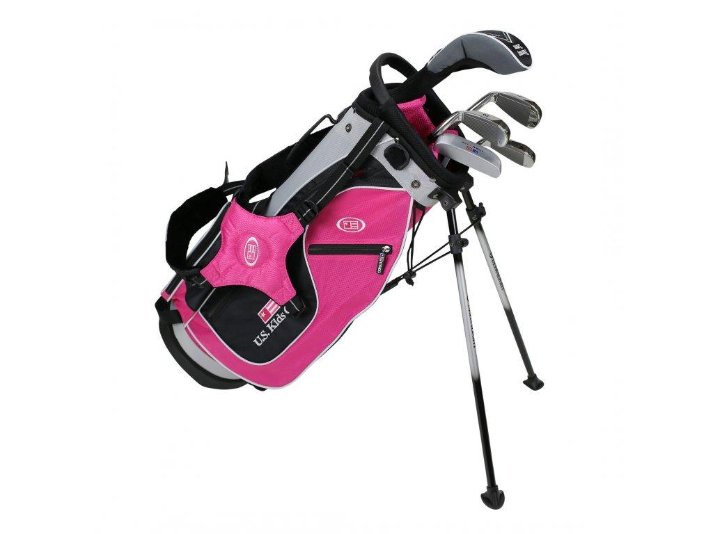 18562 UL48 WT 20 5Club Stand Bag Set pink
