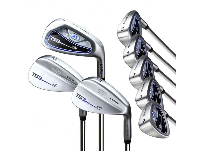 57140 TS3 57 8club iron set steel