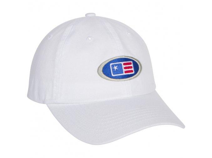 USKG Oval Twill Cap White M/L