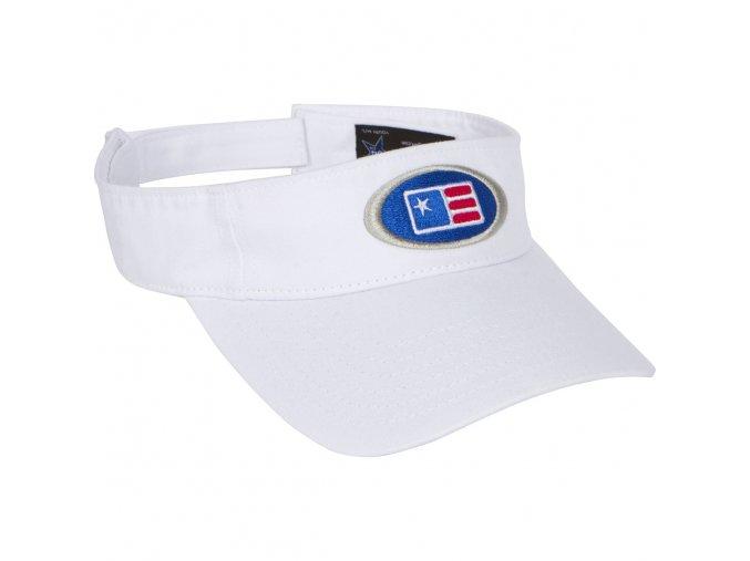 USKG Oval Twill Visor White M/L