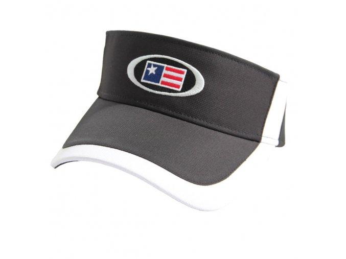 USKG Oval Tech Visor Black/White M/L