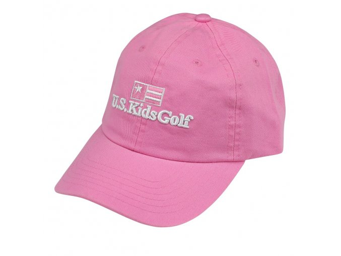 twill cap pink front