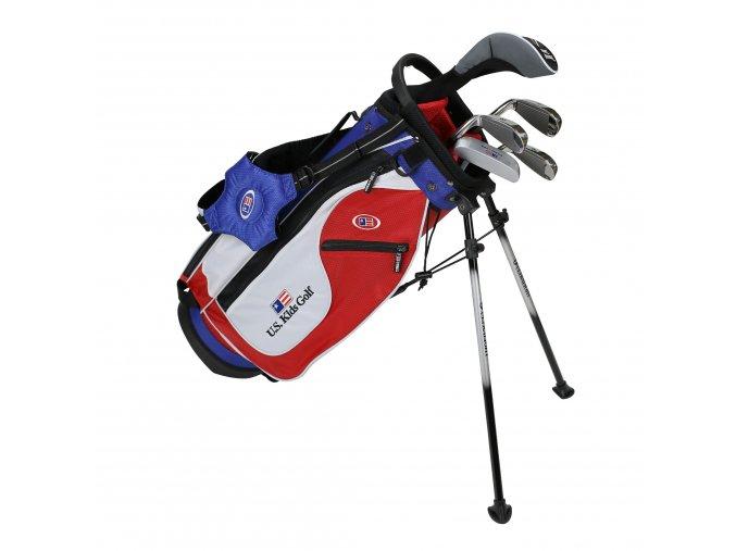 18561 UL48 WT 20 5Club Stand Bag Set red white blue