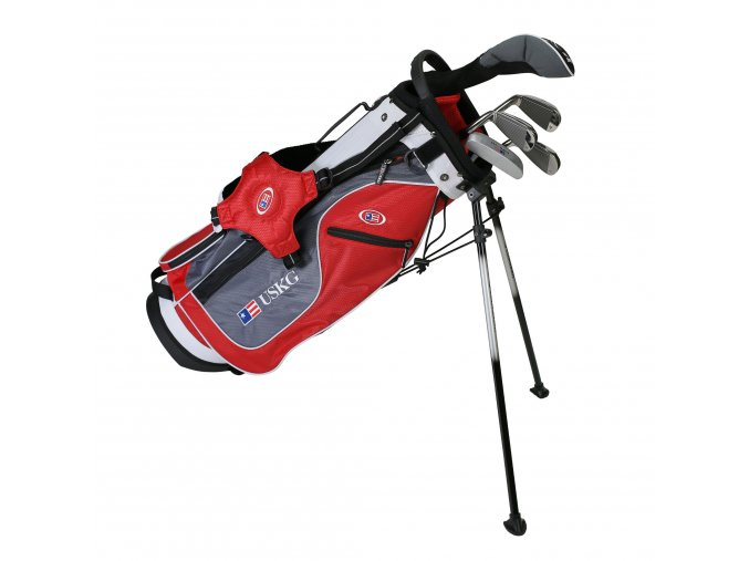 23561 UL54 WT 15 5Club Stand Bag red grey white