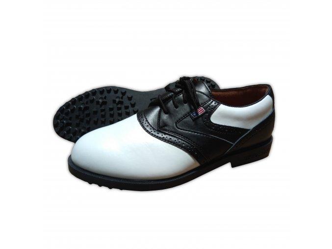 Black/White Saddle USKG Swing-Right Shoes (spikeless)