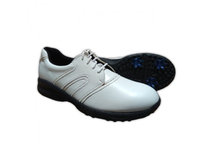 White/White Dual U.S. Kids Golf Swing-Right Shoes (Spikes)