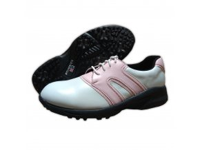 Pink/White Dual U.S. Kids Golf Swing-Right Shoes (Spikes)